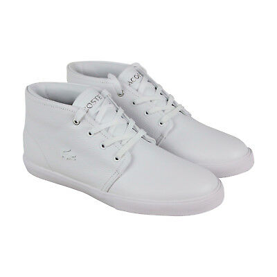 97976ab926ba Lacoste Asparta 119 1 P Cma Mens White Leather Lace Up Sneakers Shoes