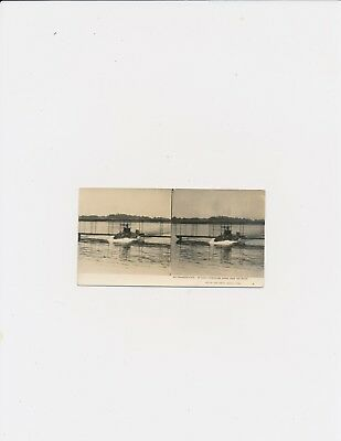 Air Transportation An Early Hydroplane Rising from Water Keystone Aviation SV 3D