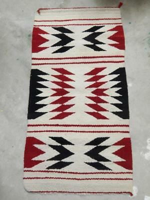 Vintage Navajo Indian Gallup Throw Rug -  Crystal Trading Post Area  Clean+Nice