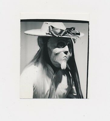 1960's Odd Look Strange Masked Unusual Long Hair Woman o Man? Feminine Weird