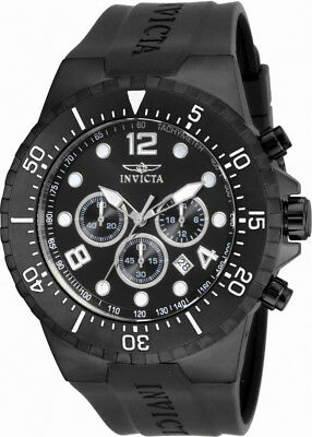 Invicta Specialty 16751 Men's Black Round Analog Chronograph Date Watch