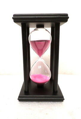 Attractive Pink Sand Wooden Case Hour Glass