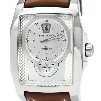 Polished Breitling Bentley Flying B Steel Automatic Mens Watch A28362 Bf333502