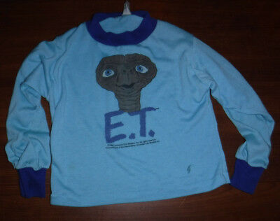 Vintage 1980's E.t. Extra Terrestrial Shirt Youth Size 6 Made In Usa 1982 L@@k