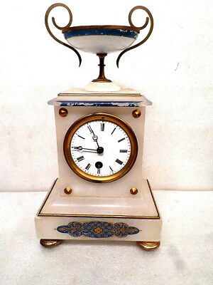 French Soapstone Table Regulator With Designed Urn & Case