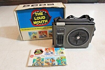 vintage GE Loudmouth portable 8-track player in original box - General Electric