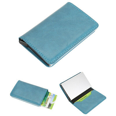PU Leather Credit Card Money Cash Holder Wallet Purse Business Father's Gift 1pc