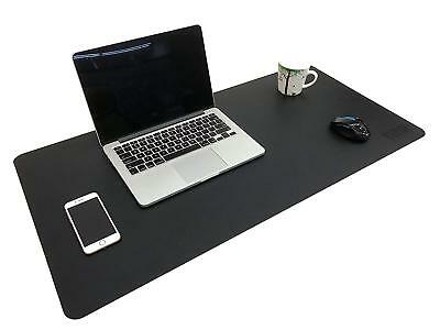 "Double Surface Desk Pad Protecter PU Leather 35.5""x 15.8"" Mat Mouse Organizer"