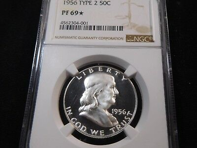 E118 USA 1956 Franklin Half Dollar Type-2 NGC PROOF-69 Star