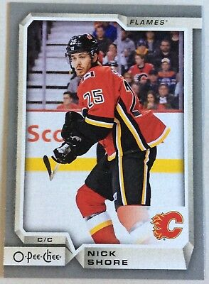 2018-19 Nick Shore O-Pee-Chee Opc Silver Border Parallel #460 Flames