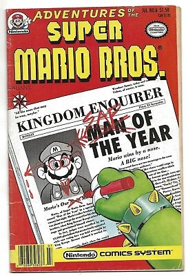 Adventures of the Super Mario Brothers #6 1991 Really Nice Condition  D-91