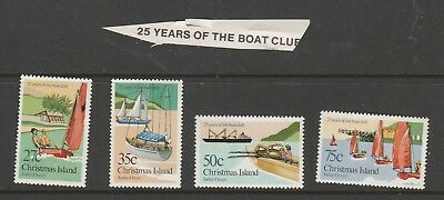 Christmas Island set of 25 years of the boat club MUH Stamps See photo