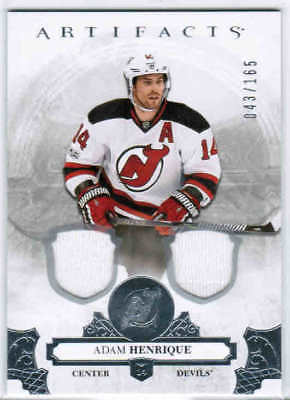 17/18 2017 UD ARTIFACTS HKY BASE DUAL JERSEY SILVER CARDS 1-100 U-Pick From List