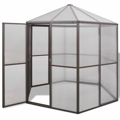 vidaXL Greenhouse Conservatory Outdoor Garden Shade Cover Plant House Aluminium