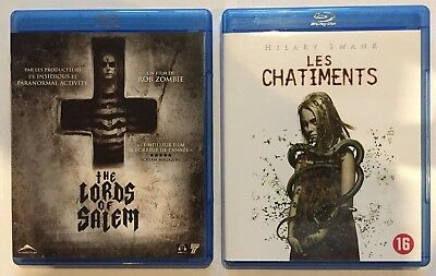 Lot 2 Blu Ray - The Lords Of Salem ( Rob Zombie) + Les Chatiments - Hilary Swank