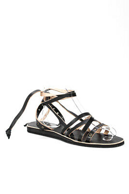 c9fef614b L Space By Cocobelle Womens Sandals Size 8.5 Black Leather Strappy Talia In  Box