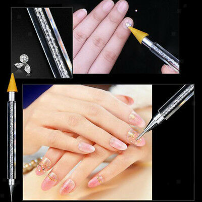 Double Head Crystal Nail Art Dotting Painting Pen Manicure Tools Paint Dot