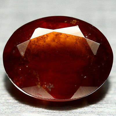 2.52 Ct Natural! Red African Hessonite Garnet Oval