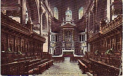 UK - St Pauls Cathedral, Choir East (Post Card) 1905