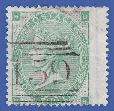 GB QV 1862 1s GREEN (PLATE NO.1 PLATE 2) DH  SG90 FU IN GLASGOW 159  CAT £300