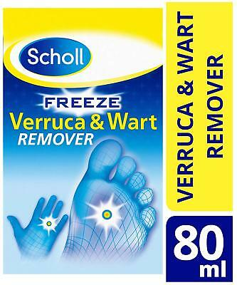 Scholl Freeze Verruca and Wart Remover, Easy to Use, 80ml FREE DELIVERY