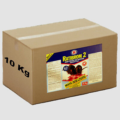 RATIBROM 2 - El raticida infalible - Rodenticida - Pack 10 Kg cebo fresco (10x1)