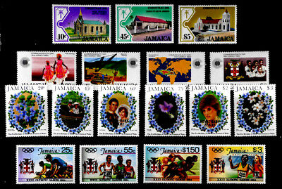 Jamaica: 1981-4 Mint Never Hinged Stamp Collection Of 4 Complete Sets