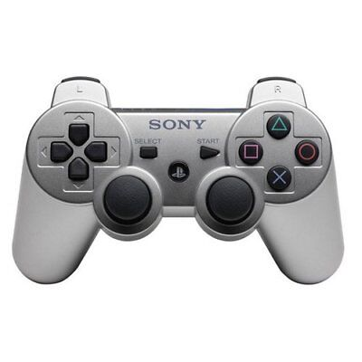 Sony SIXAXIS Dualshock3 Controller silber - PS3 (Analogsticks abgenutzt)