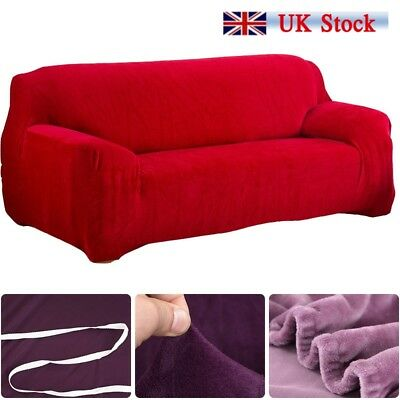 Elastic Fabric Sofa Cover Sectional/Corner Couch Covers Home Decor 1-4 Seats UK