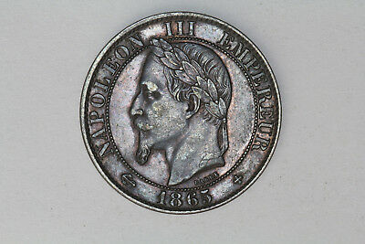 France - 5 centimes 1865 BB *quality* (#21)