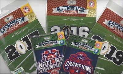 Clemson Tigers 5 Patch Combo 2016 2017 2019 CFP + 2016 2018 National Champs