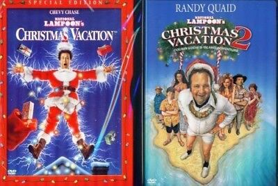 CHRISTMAS VACATION 1 & 2: National Lampoon's- Chevy Chase-Raid Quaid NEW 2 DVD