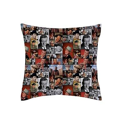 "John Wayne Coloured Montage Design 18x18 "" Cushion Great Christmas Gift"