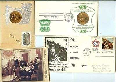 1971, 1975 & 1976 1St Day Issue Covers W/stamps Nice 3 Piece Collection