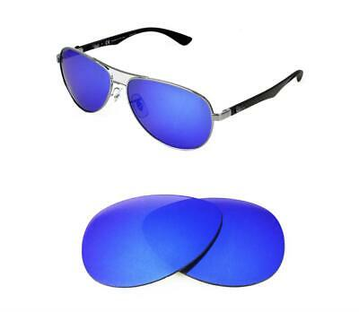 45a5db939 NEW POLARIZED CUSTOM ICE BLUE LENS FIT RAY BAN RB3393 64mm SUNGLASSES