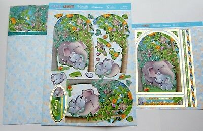 New Hunkydory Ele-Fun Elephant Cute & Cuddly Deco-Large Card Kit P&P Discount
