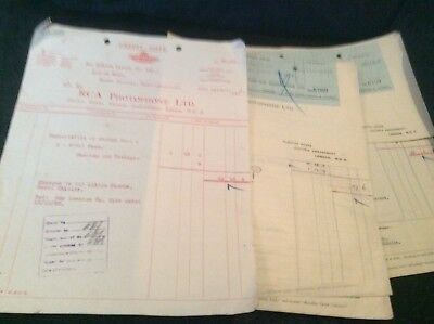 Paperwork Between Rca Photophone Albion Cinema North Shields 1935 Invoices Etc