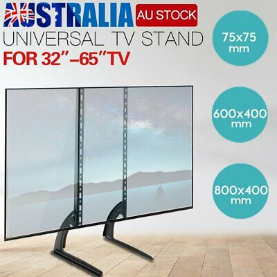 "Universal Table Top TV Stand Legs Bracket Mount Base for 32-65"" LED LCD Screen"
