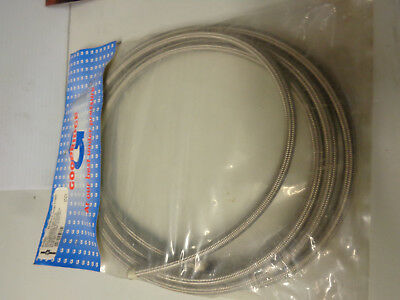 OIL 12 Foot -6 Teflon Stainless Steel Fuel Oil Line/Hose Harleys Customs Other