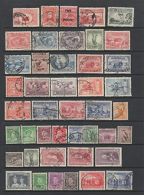 Australia 1929 -1955 used collection, 126 stamps