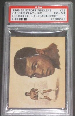 1965 Bancroft Tiddlers #12 CASSIUS CLAY Trading Card-PSA 6 EX-MT-Boxing Cards