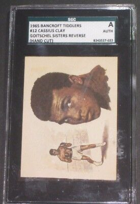 1965 Bancroft Tiddlers #12 CASSIUS CLAY Trading Card-SGC AUTHENTIC-Boxing Cards