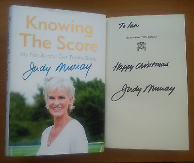 JUDY MURRAY SIGNED Knowing Score My Family & Our Tennis Story Andy Jamie Murray