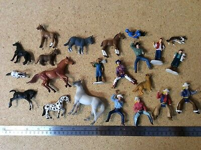Lot of Small Breyer Reeves and Others Horses Cowboys Cowgirls Dogs