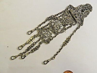 antique silver chatelaine Thornhill & co bond st