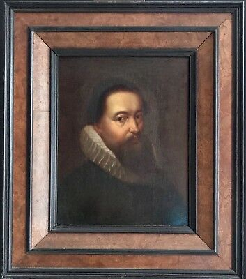 VERY FINE 17th CENTURY DUTCH OLD MASTER OIL - BEARDED MAN IN WHITE RUFF COLLAR