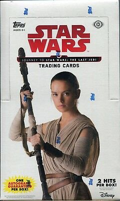 Star Wars Journey To The Last Jedi Series Factory Sealed Trading Card Hobby Box