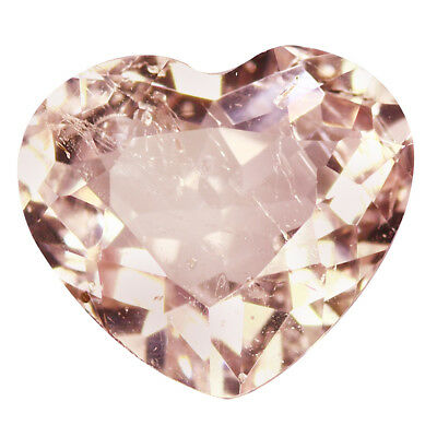 2.23Ct Sparkling Heart cut 10 x 8 mm 100% Natural Pink Morganite