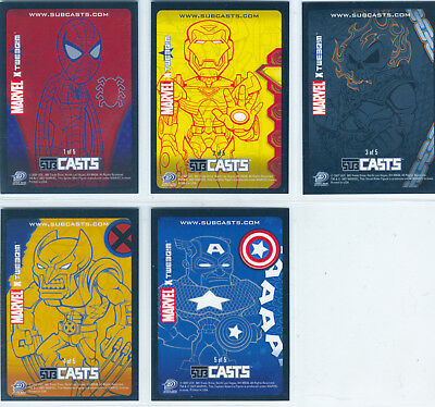 Marvel Masterpieces 2007 Complete 5 Card Chase Set Subcasts