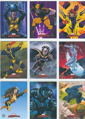 Marvel Masterpieces 2007 Complete 9 Card Chase Set X-Men